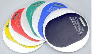 Round promotion mouse pad calculator