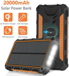Solar Wireless Power Banks 20000mah Wireless Solar Power Banks 20000mah