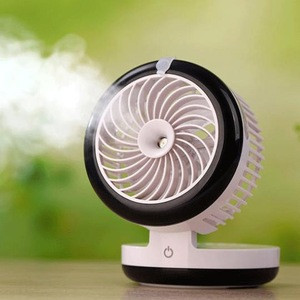Summer cooling humidification usb portable mini electric water cooler spray fan with Touch switch in third gear