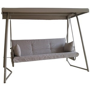 Two Adults Seat Swings for Outside Porch with Stand with Canopy Outdoor Hanging Double Patio Swing Bed