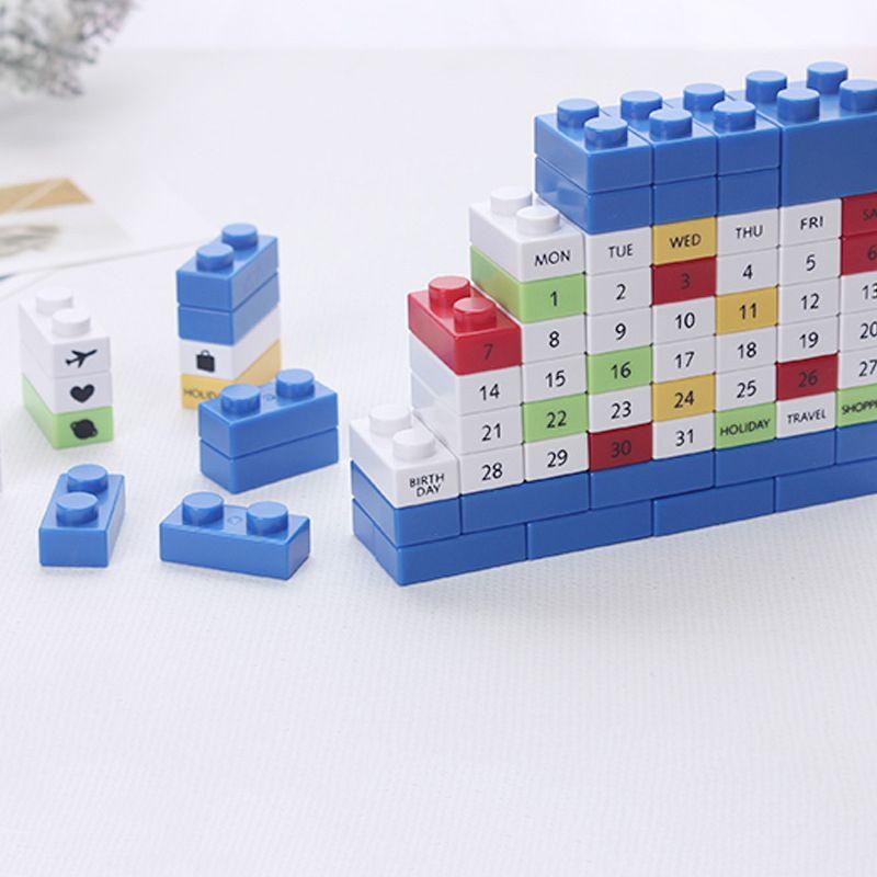 DIY desktop decoration building blocks desk calendar