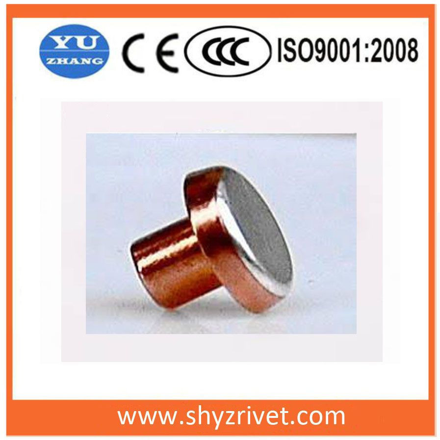 Silver contact  rivet for circuit breakers