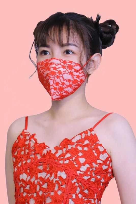 Bud silk  LACE face mask  Personality mask