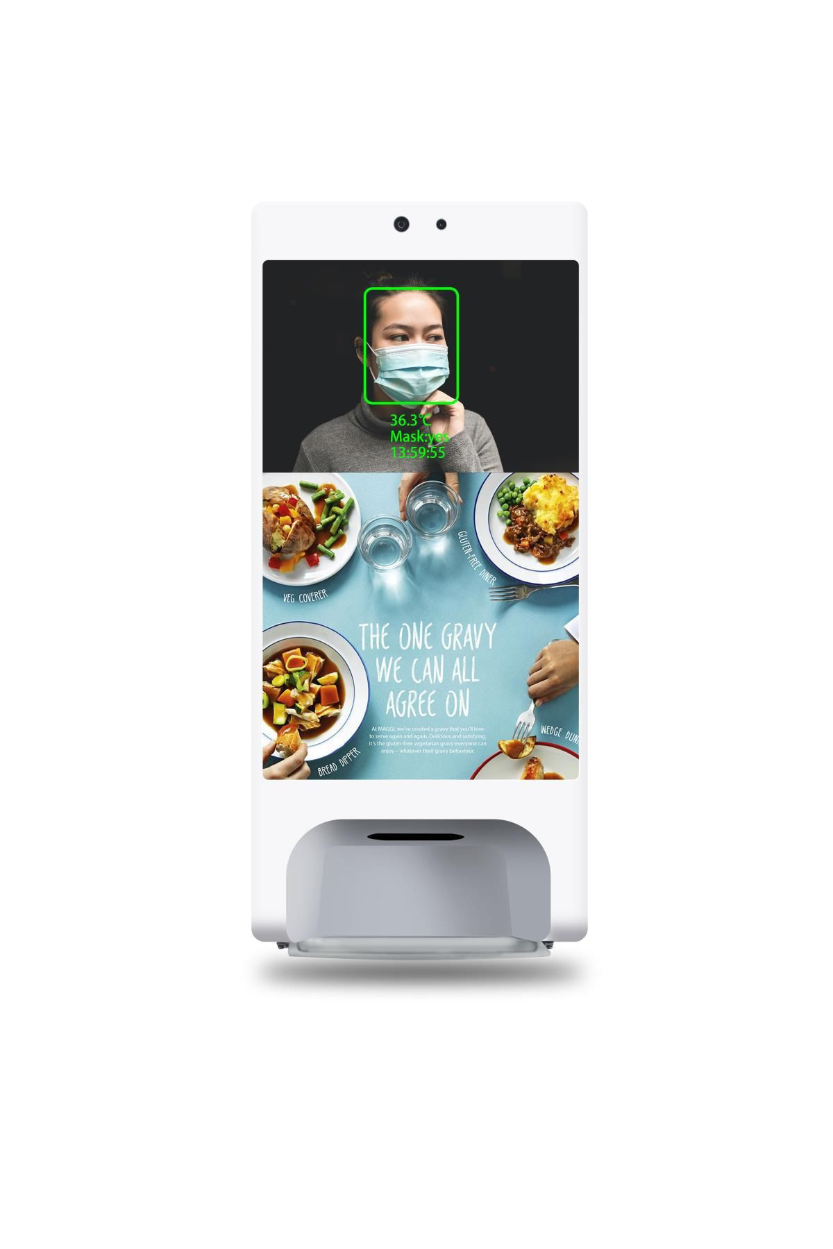 Hand Sanitizer Automatic Dispenser LCD Advertising Display