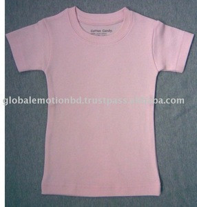 100%cotton interlock baby t-shirts, soft hand-feel combed cotton baby garments