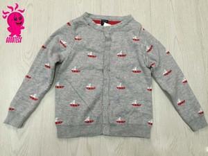 2015 new design baby long sleeve spring sweater stylish sweater knitting machine children sweater with Sailboat pattern
