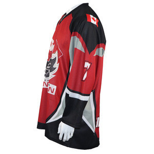2019 newest custom dye sublimated hockey jerseys