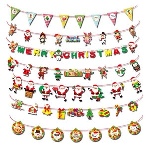 2020 New Colorful Fashion Style Banner Indoor Christmas Decoration Party Supplies Merry Christmas Banner