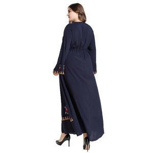 2020 New style women clothing abaya maxi long dress islamic clothing muslim embroidery dress women
