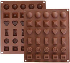 6 Different Shape 30 Holes Silicone Chocolate Suger Mold Baking Tools