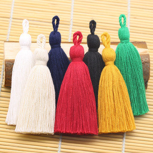 8cm Cotton Tassel Hanging Rope Fringe Tassel for Sewing Curtains tiebacks Home Decoration Jewelry Craft Accessories