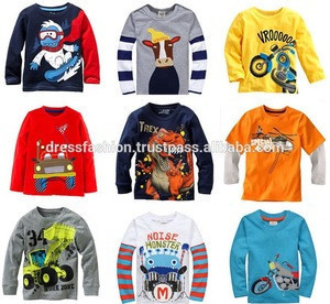 Boys Long Sleeve T-Shirt with Print