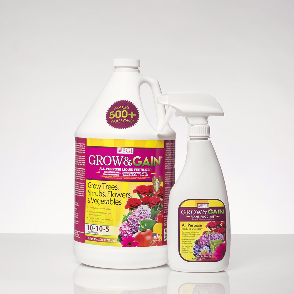Concentrated All Purpose Liquid Fertilizer Grow & Gain Plant Food Mist 16 Oz Humic Acids