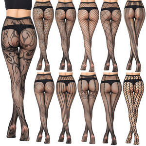 Cowinner 2020 Womens Fishnet Stockings Tights Suspender Pantyhose Mesh Hollow Stretch Thigh High Stockings