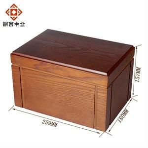 Custom Ash Wood Grain Eco Friendly Paint Wooden Cremation Urn