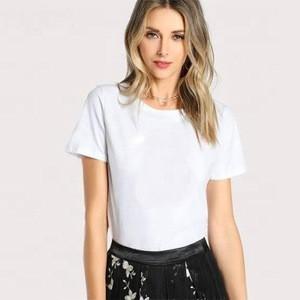 Custom design white t shirt for women