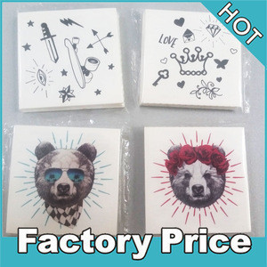 Custom temporary black child tattoo mix design folded packing tattoo stickers