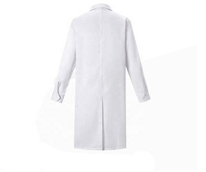 Custom unisex polyester cotton hospital doctor's white lab coat designs