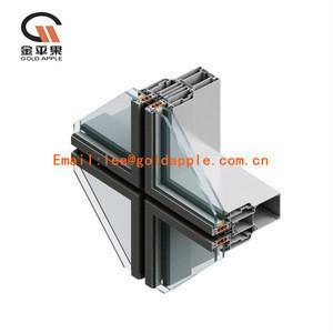 Customized glass aluminum curtain wall profile