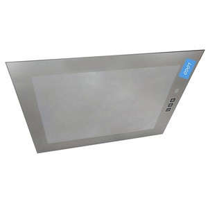 Customized size color draft electric appliance microwave oven dish washer coated silk print door tempered glass sheet panel