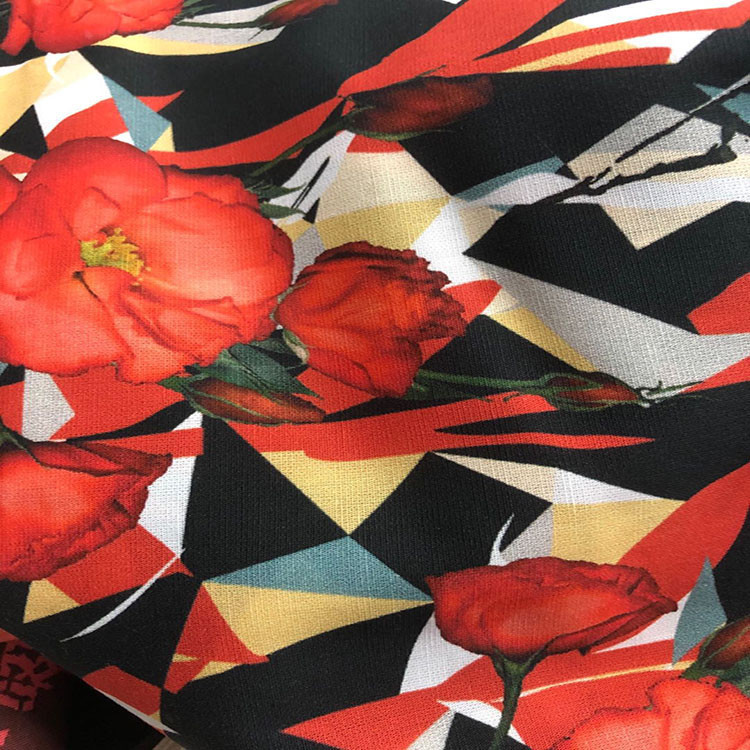 digital printing Woven  Cotton Poplin dress material and apparel fabric 40s*40s
