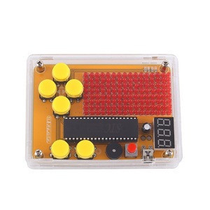 DIY Kit Game Kit LED Dot Matrix Display Module Creative Electronics Experiment Kit for Tetris/Snake/Plane/Racing/Fruit Slot game
