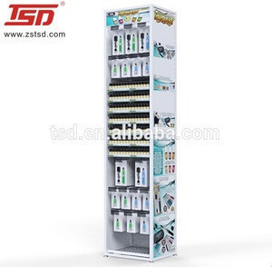 E-liquid blister pack display rack/metal display e-cigarette blister pack stand/retail e-cig blister pack display