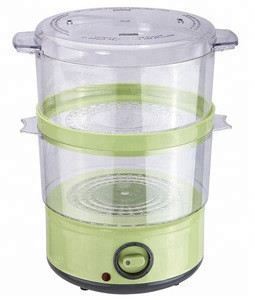Electric food steamer 400W Volume 4 liters total Two layers  60 minutes mechanical timer