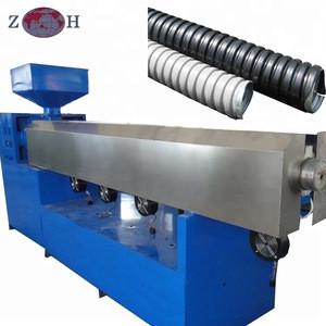 Flexible pvc tube making machine for drainage purpose