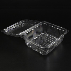 Food packing plastic transparent vegetable box container food grade
