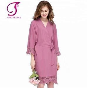 FUNG 3028 Solid Color Womens Sleepwear Bridesmaid Pajamas