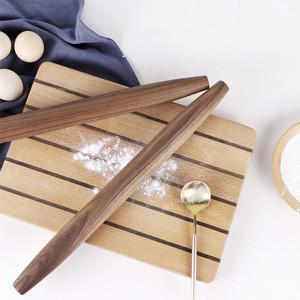 High-grade natural black walnut wood rolling pin for baking dumpling ravioli dough