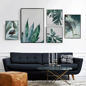 High quality 3D diamond painting plant leaves photo used for home living room bedroom canvas painting wall decor