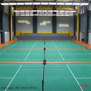 Indoor pvc interlocking sport court badminton flooring tiles