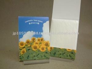 Japanese ABURATORI-GAMI (Oil Blotting Paper / Oil Absorbent Tissue)