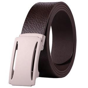 Luxury Men Ratchet Belts Automatic Buckle Metal