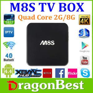 M8S OEM amlogic s812 2.0ghz ultra hd 4k 3d blu-ray player google android 4.4 m8s amlogic s812