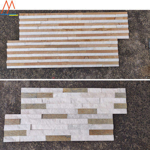 Natural mix natural landscaping colored crushed stone golden white ledge stone facade stone