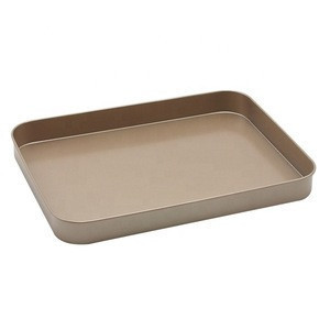 Non-Stick China Home Flat Rectangle Shaped Pizza Bread Cake Biscuit Pan Sets Cookie Baking Tray