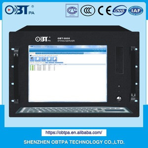 OBT-9800 digital internet public address PA system SIP PAS network computer server