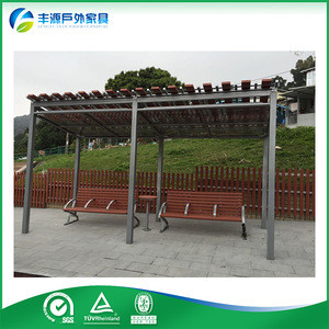 Offer Cheap Customized Uv-Resistant Metal Bus Stop Shelter, Bus Station