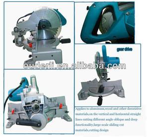 OUDERLI electric power tools 1650w 255mm sliding miter saw compound miter sawJ1X-ODL-1040