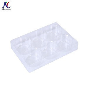 Sale new product 2018 transparent plastic blister packaging plastic tray for mini cake chocolate candy
