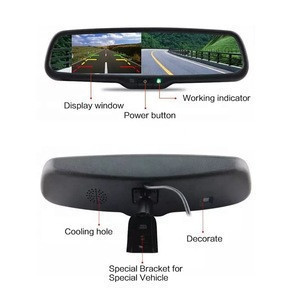 Top quality dual lens car dvr rearview mirror camera dash cam waterproof anti fog rain steering gear Of Low Price