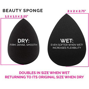 Wholesale beauty Best Sell  private label hot non latex water drop puff black Makeup Sponge for wet and dry  cosmetic tool