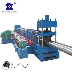 ZY-Factory supplier traffic barrier crash W beam  highway municipal guardrail corner cold roll forming making machine