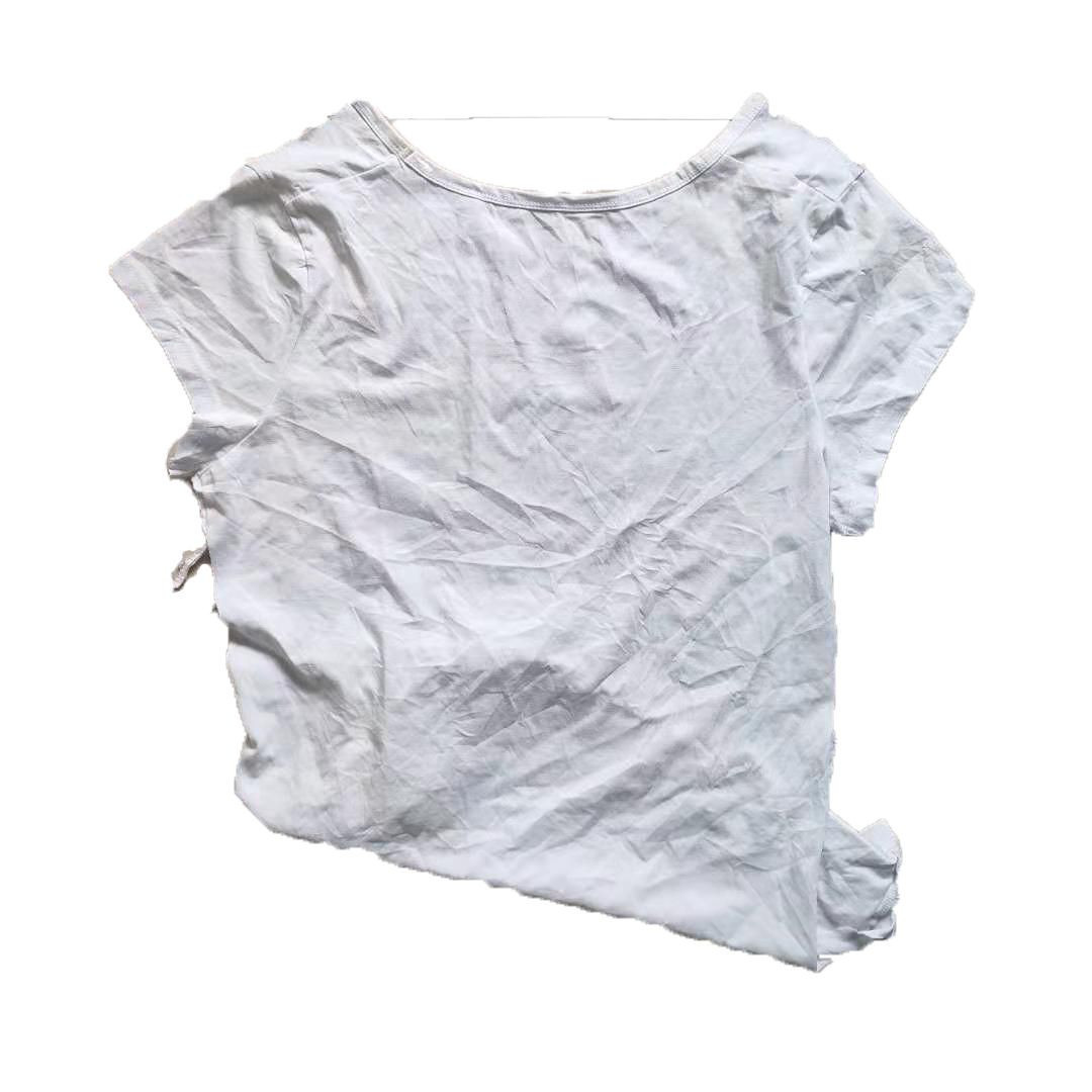 Free sample oil absorbent 100 cotton white t shirts cleaning rags
