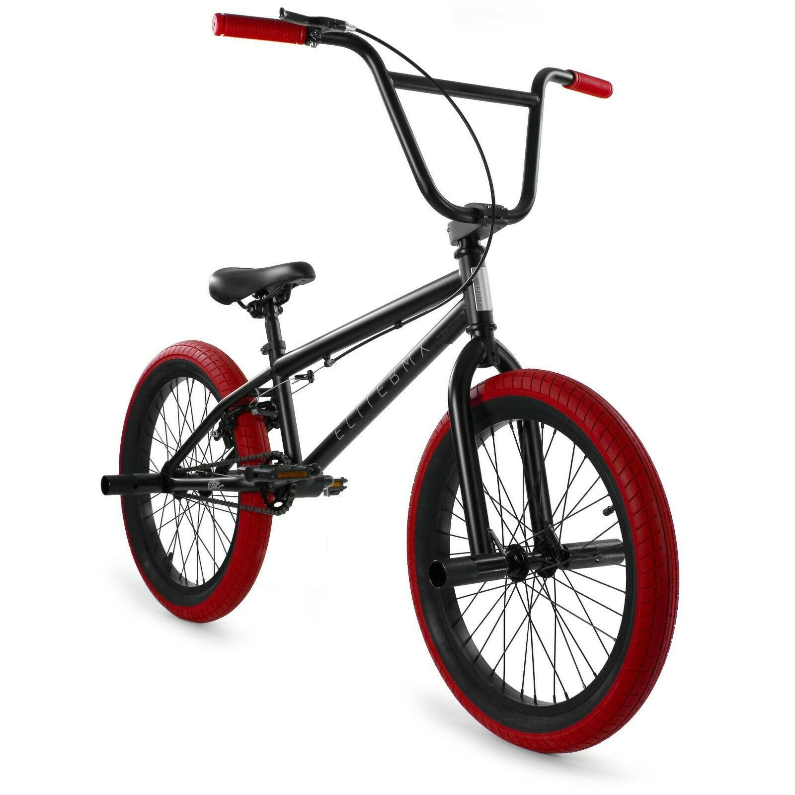 "Elite BMX 20"" Bike Stealth Freestyle Black Red NEW 2021"
