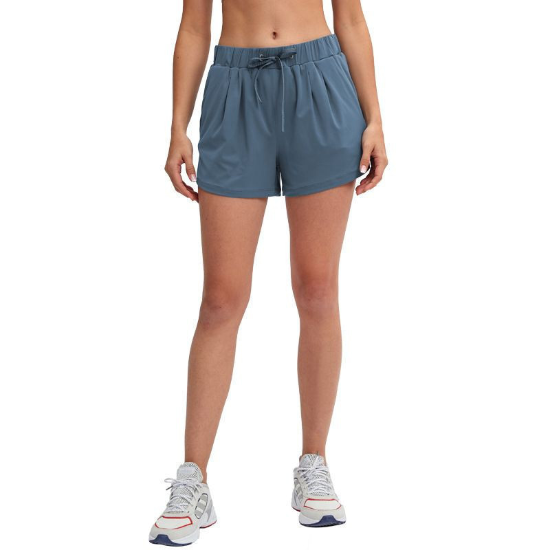 2021 spring & summer new lace-up yoga shorts breathable outer running casual shorts