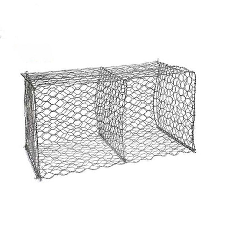 high quality gabions box 60*80mm galvanized hexagonal wire mesh exporting to Egypt